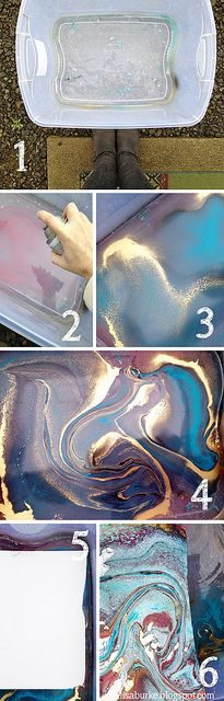 22. CREATE THE MARBLE EFFECT