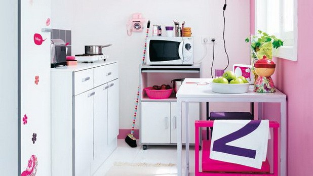 White-and-Pink-Kitchen-Small-Appliance-Storage