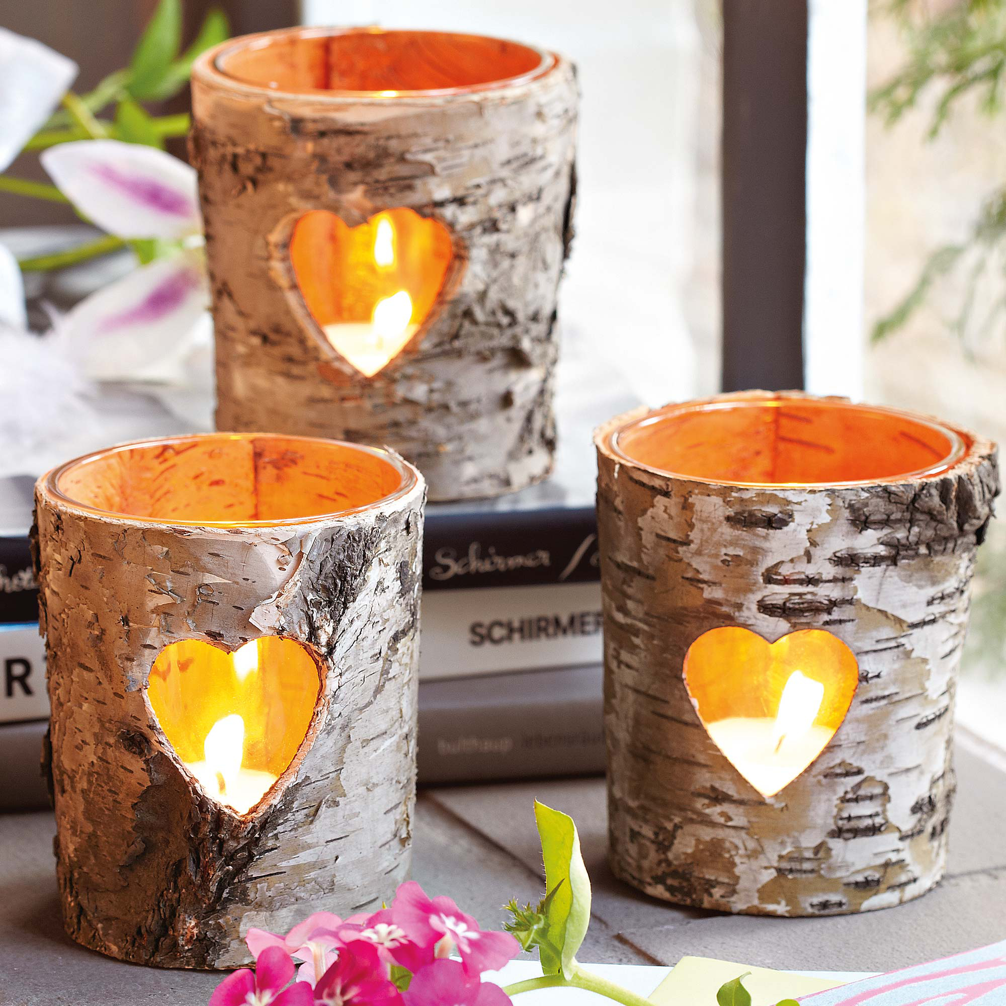 40 extremely clever diy candle holder projects for your home - Christmas Log Candle Holder Decorations