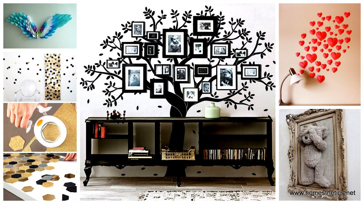 46 inventive diy wall art projects and ideas for the weekend for Art and craft for wall decoration