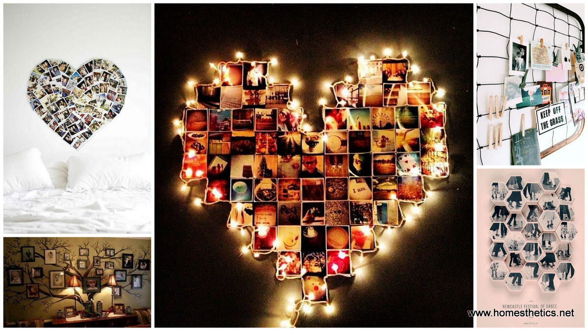 45 creative diy photo display wall art ideas solutioingenieria Image collections
