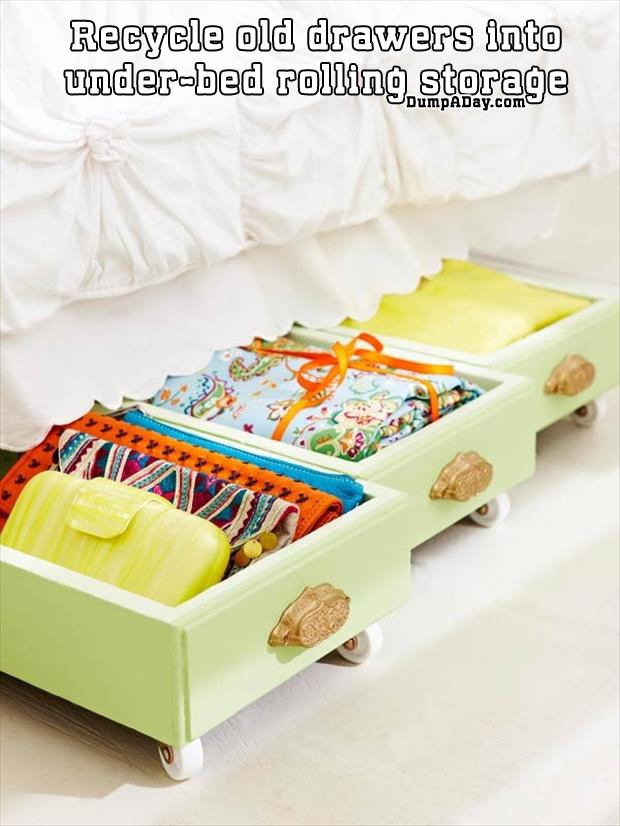 recycle-old-drawers-into-under-bed-rolling-storage