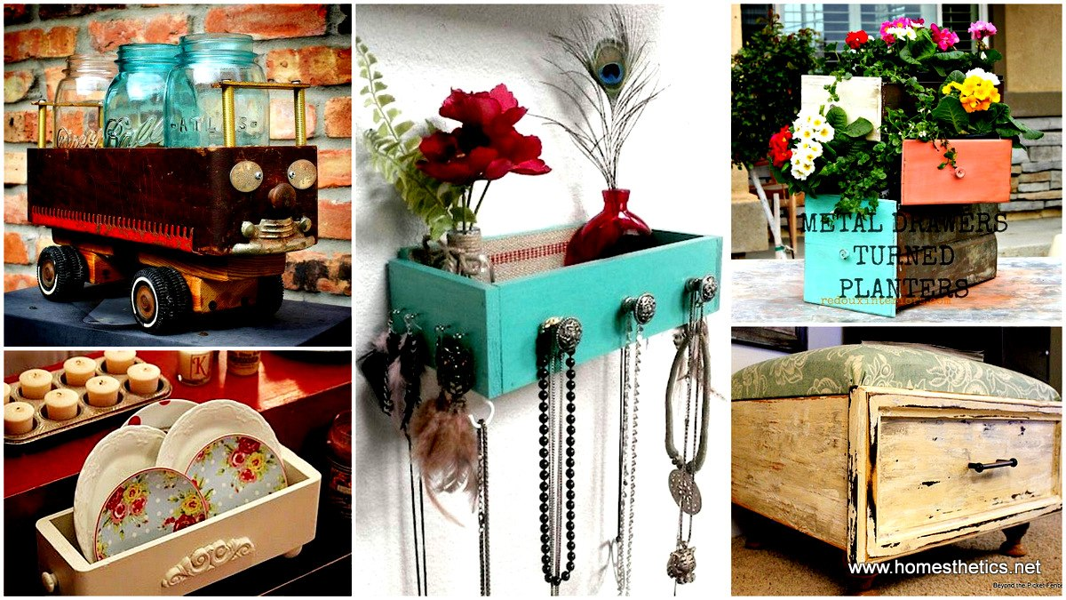 20 beautiful and creative ways to recycle old drawers for Recycle old things