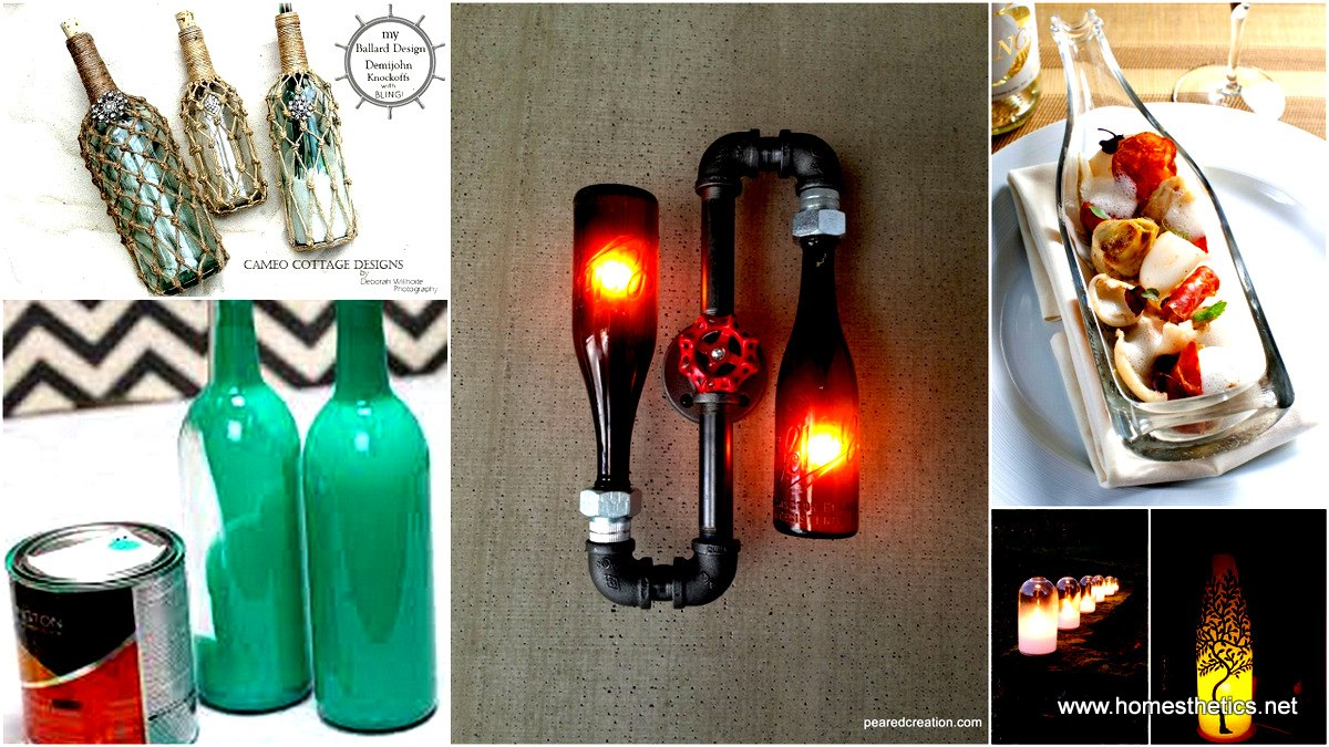 44 Simple DIY Wine Bottles Crafts And