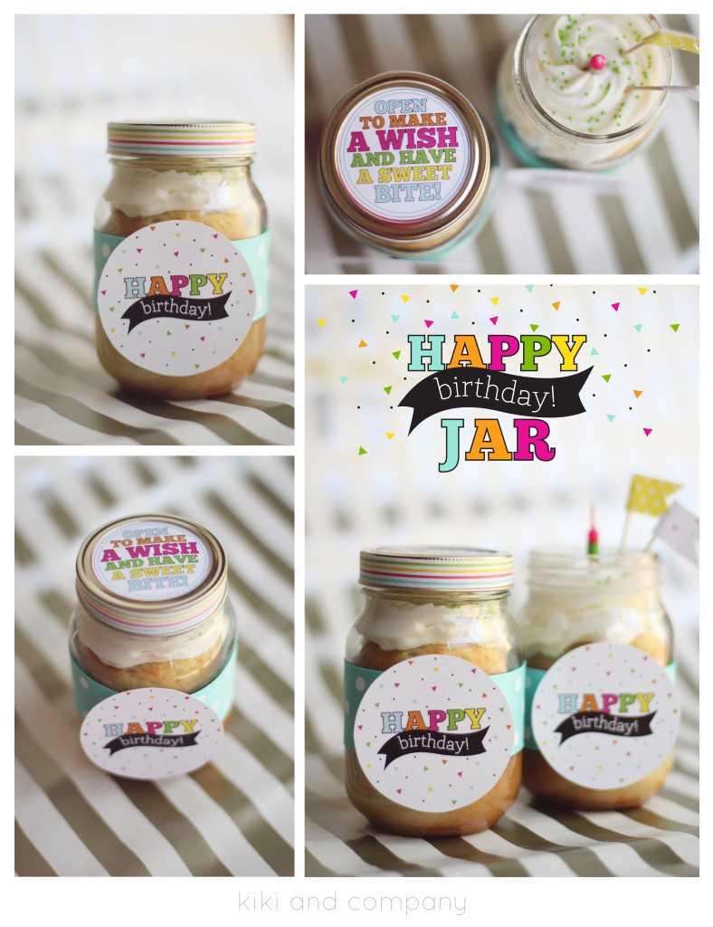 BIRTHDAY CAKE IN A JAR!
