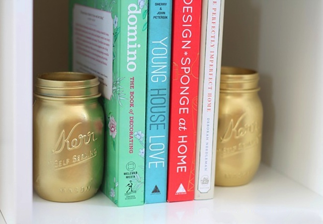 MAKE FUN Mason Jars BOOKENDS