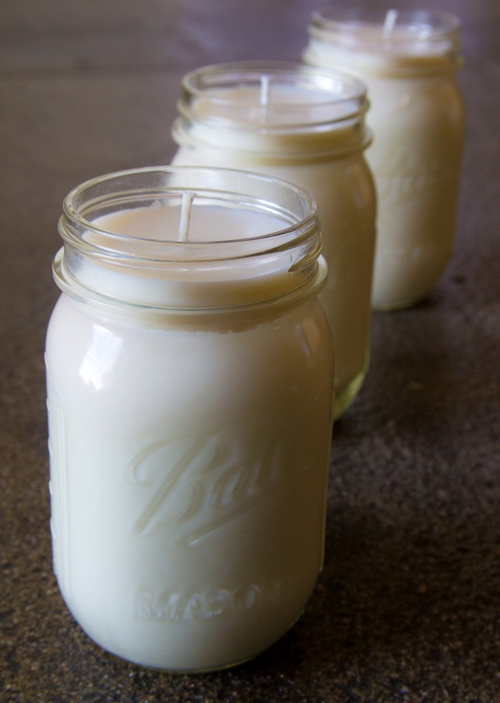 Mason Jars EASY CANDLES