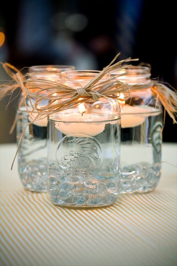 PRETTY FLOATING jAR CANDLES