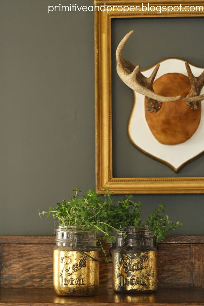 MAKE SOME GOLD LEAF PLANTERS