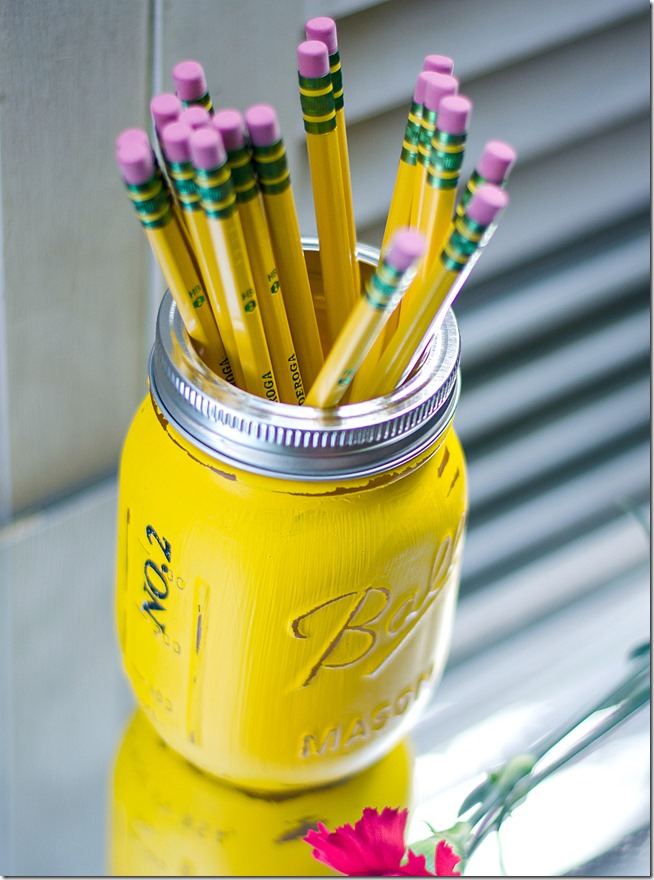 DIY Mason Jar PENCIL CUP