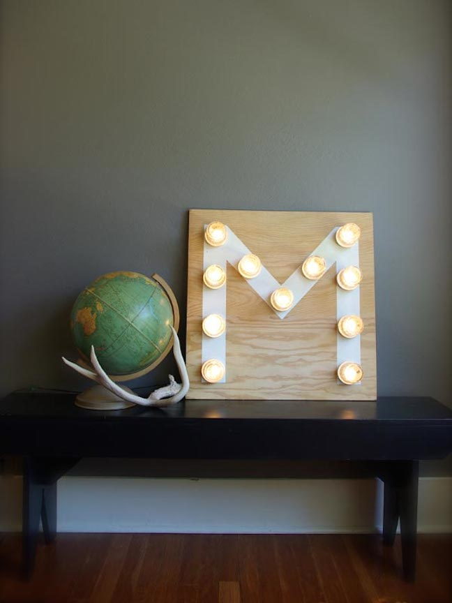 MAKE A MONOGRAM LIGHT