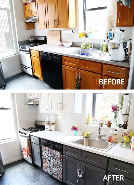 Before And After Small Kitchen: Before & After: Kitchen Makeover Projects To Inspire Your
