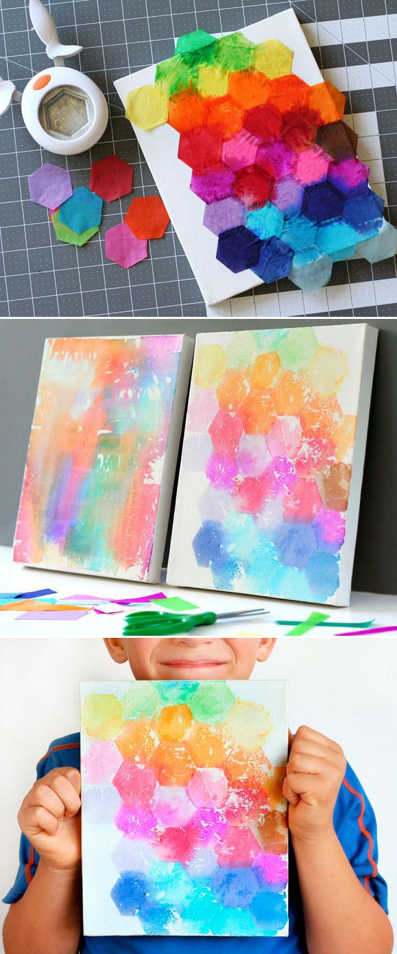 Painting With Tissue Paper Creative Fun For All Ages Easy DIY Wall Art Projects Homesthetocs 4