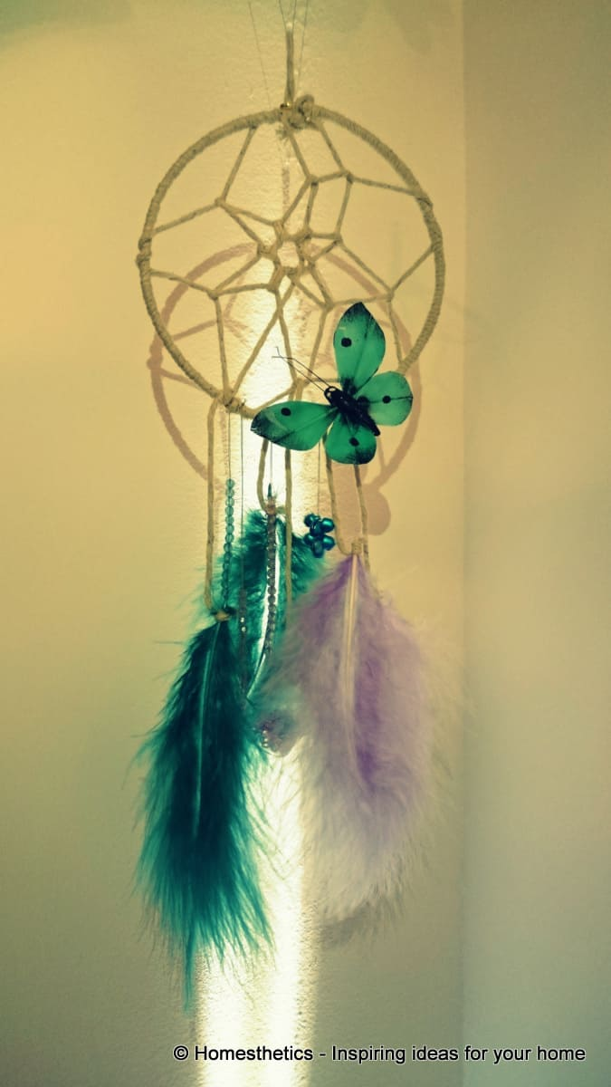 How to Make a Dream-catcher Tutorial & Beautiful DIY Dream-catcher Inspiration Pack for Beginners homesthetics (9)