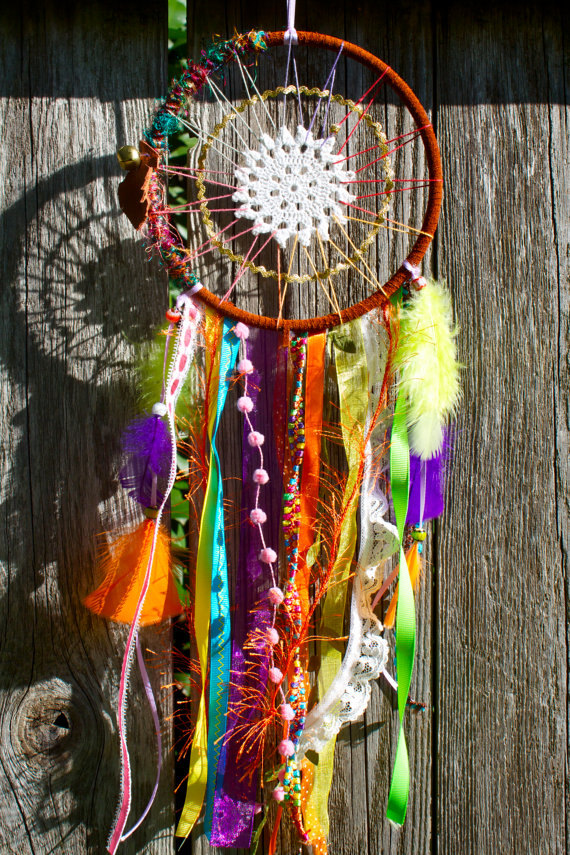 How to Make a Dream-catcher Tutorial & Beautiful DIY Dream-catcher Inspiration Pack for Beginners homesthetics decor (32)