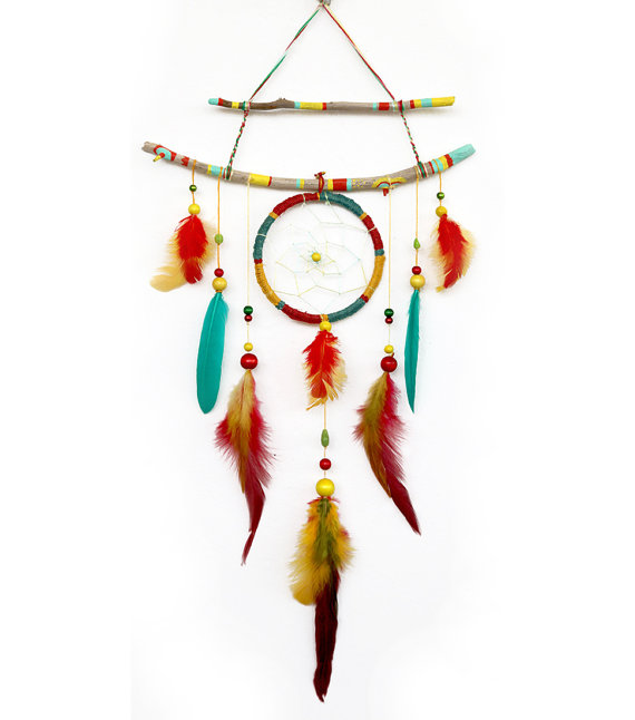How to Make a Dream-catcher Tutorial & Beautiful DIY Dream-catcher Inspiration Pack for Beginners homesthetics decor (37)