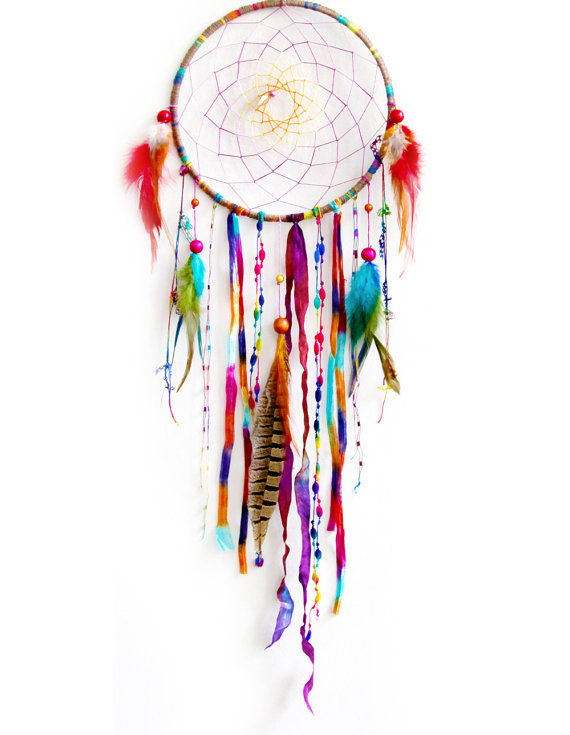 How to Make a Dream-catcher Tutorial & Beautiful DIY Dream-catcher Inspiration Pack for Beginners homesthetics decor (38)