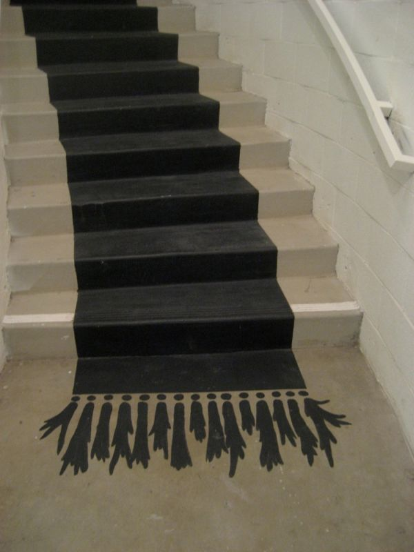 Black Rug Paint. Ideas On DIY Stair ...