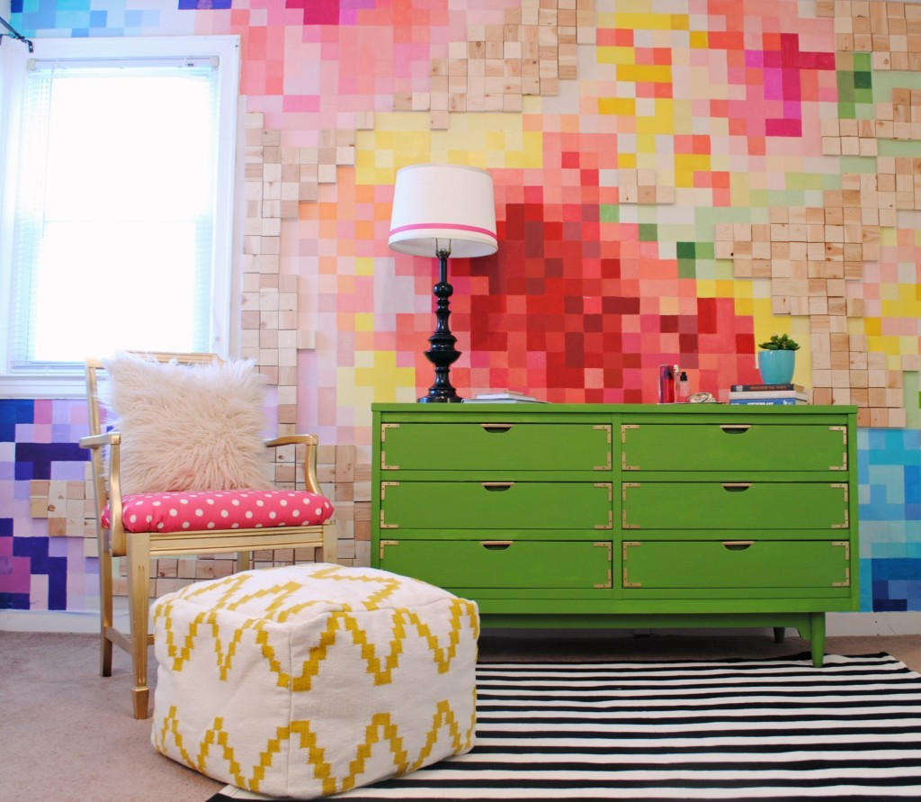 Pixelated-Floral-Wall-and-Kelly-Green-Campaign-Dresser1-1024x891
