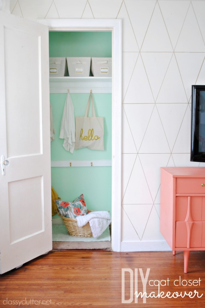 35. Coat Closet A Makeover At Classy Clutter · Refresh Your Home Withe DIY  Home Decor Ideas ...