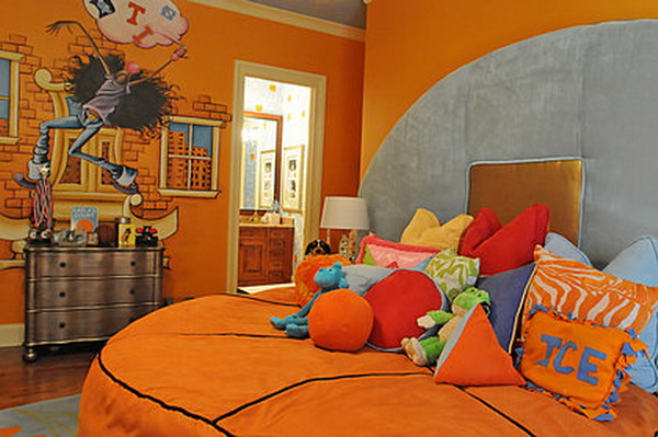 Simple things to consider for an inspiring basketball - Comely pictures of basketball themed bedroom decoration ideas ...