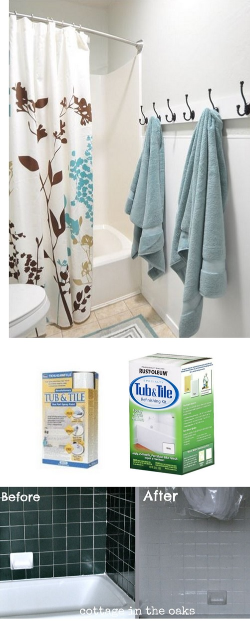 Solutions for Renters Design Series - 10 Creative Bathroom Ideas homesthetics decor (20)