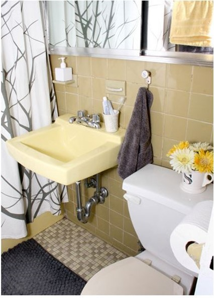 Solutions for Renters Design Series - 10 Creative Bathroom Ideas homesthetics decor (21)