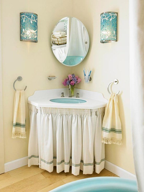 Solutions for Renters Design Series - 10 Creative Bathroom Ideas homesthetics decor (6)
