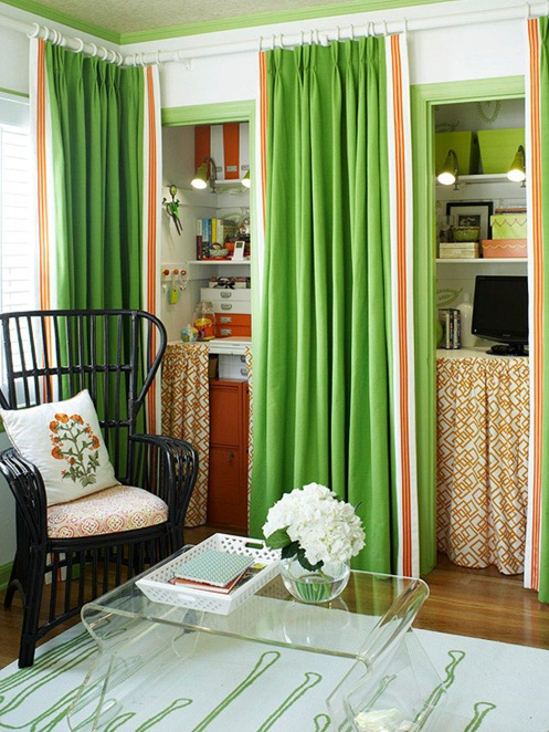 Solutions for Renters Design Series - 10 Small Creative Home Offices homesthetics decor (16)