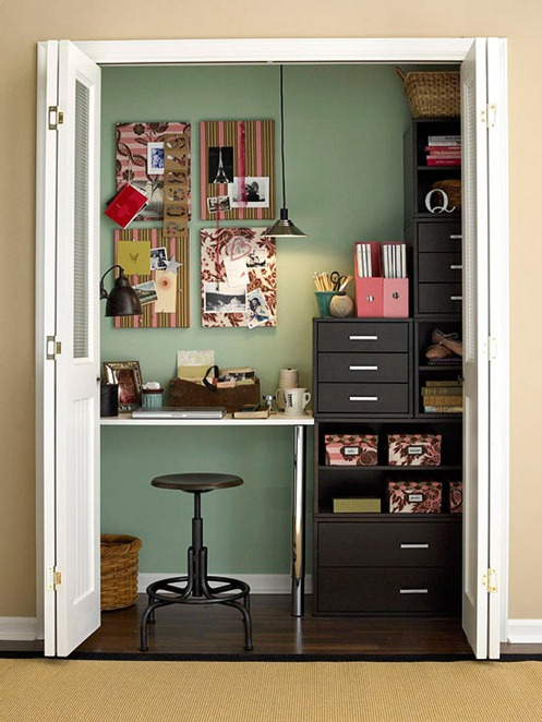 Solutions for Renters Design Series - 10 Small Creative Home Offices homesthetics decor (17)
