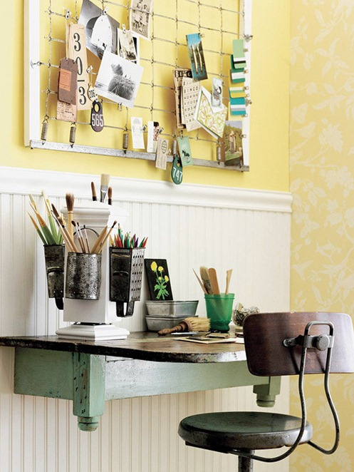 Solutions for Renters Design Series - 10 Small Creative Home Offices homesthetics decor (24)