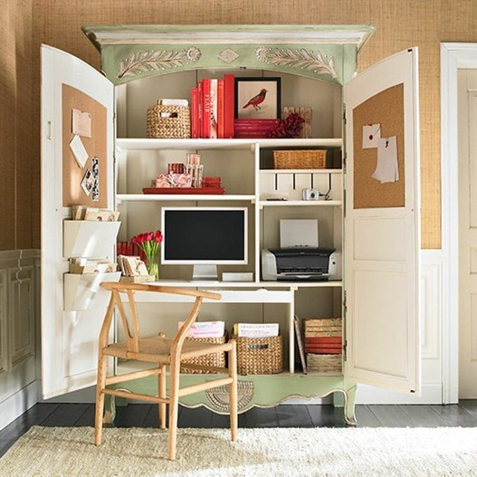 Solutions For Renters Design Series   10 Small Creative Home Offices  Homesthetics Decor (28)