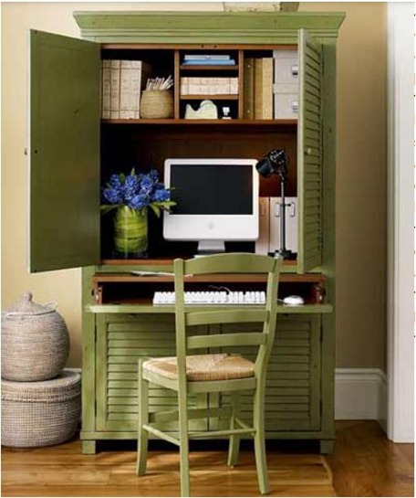 Solutions For Renters Design Series   10 Small Creative Home Offices  Homesthetics Decor (9)