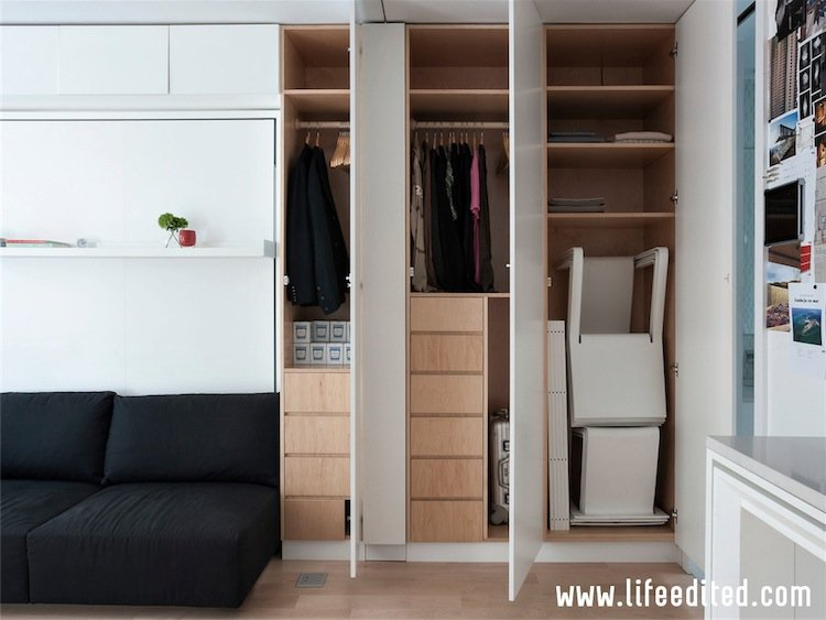 The $1Million Foldable Apartment-420-Square-Foot Studio That Can Transform Into Five Different Rooms