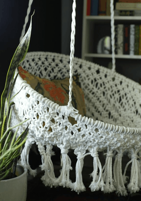 diy macrame hanging chair top 10 diy hanging chairs projects to try this 7577