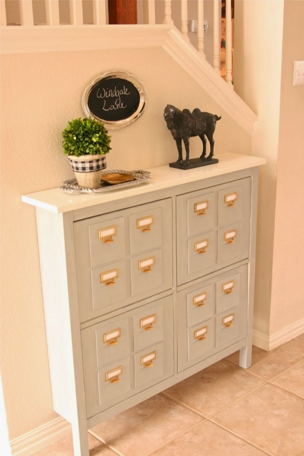 Merveilleux FAUX LIBRARY CARD CATALOG CONSOLE. Top 33 Ikea Hacks ...