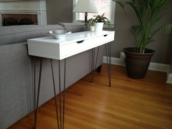 MODERN CONSOLE TABLE. Top 33 Ikea Hacks You Should Know Homesthetics.net  (33)