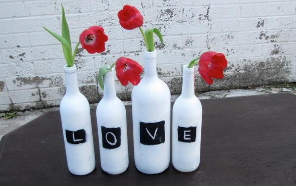 Upcycling Inspiration Pack-Insanely Beautiful DIY Wine Bottle Centerpieces That You Should Try homesthetics decor (12)