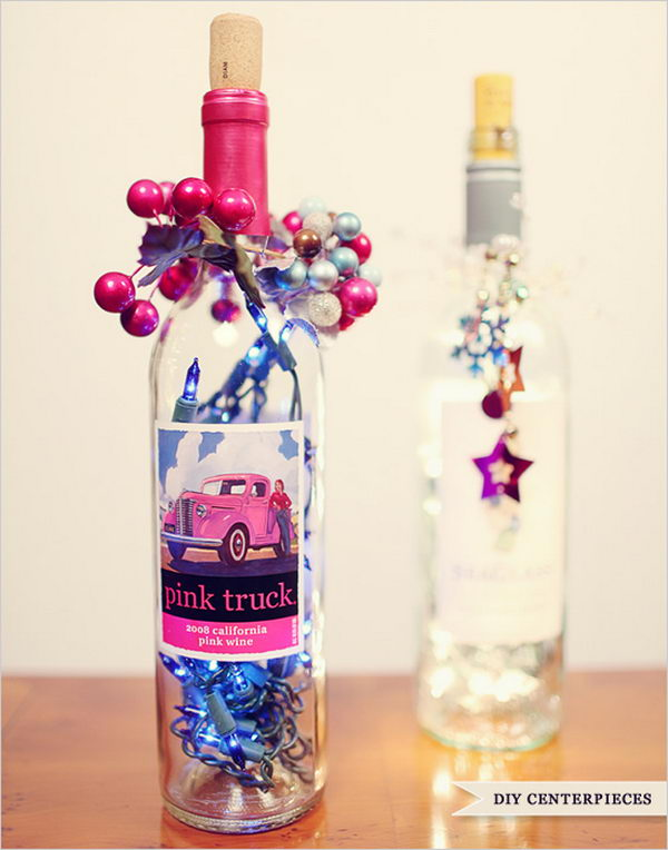 Upcycling Inspiration Pack-Insanely Beautiful DIY Wine Bottle Centerpieces That You Should Try homesthetics decor (17)