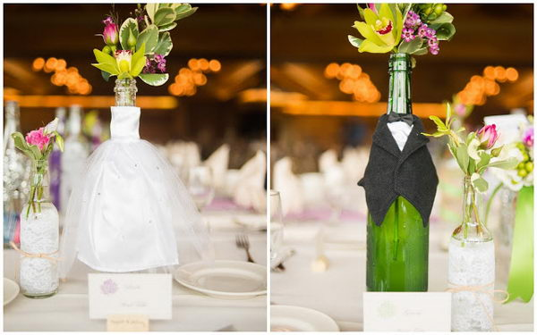Upcycling Inspiration Pack-Insanely Beautiful DIY Wine Bottle Centerpieces That You Should Try homesthetics decor (6)