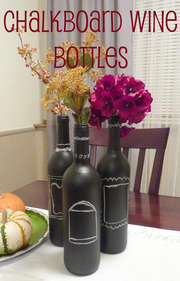 Upcycling Inspiration Pack-Insanely Beautiful DIY Wine Bottle Centerpieces That You Should Try homesthetics decor (8)