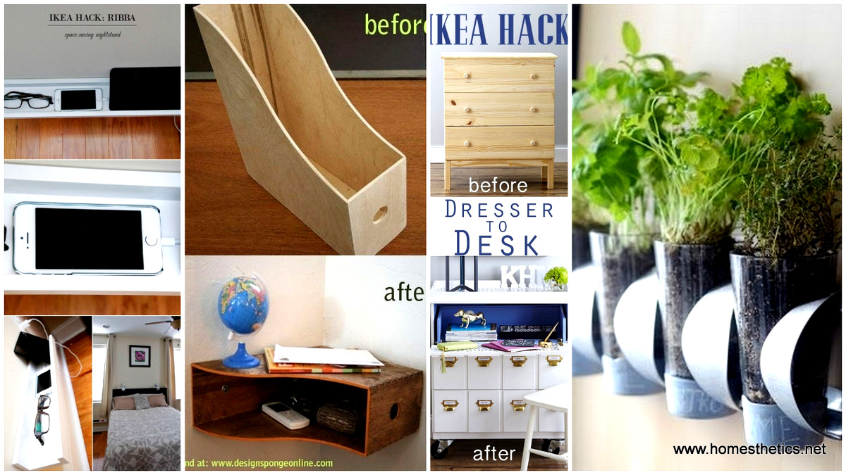 top 33 ikea hacks you should know for a smarter exploitation of your furniture. Black Bedroom Furniture Sets. Home Design Ideas