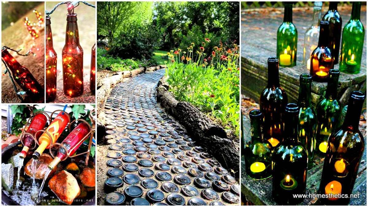 Sustainable DIY Wine Bottle Outdoor Decorating Ideas