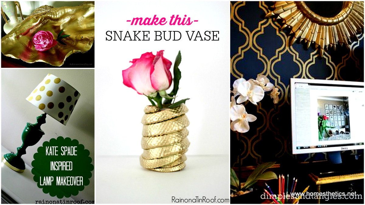 1 40 Extremely Glamorous Gold Home Decor Projects That Youll Love