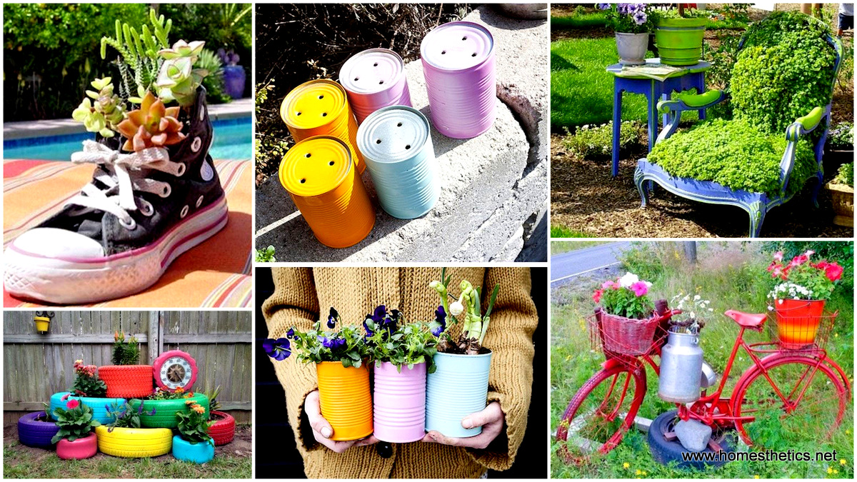 24 Insanely Creative DIY Garden Container Projects That Will Beautify Your Backyard Landscaping