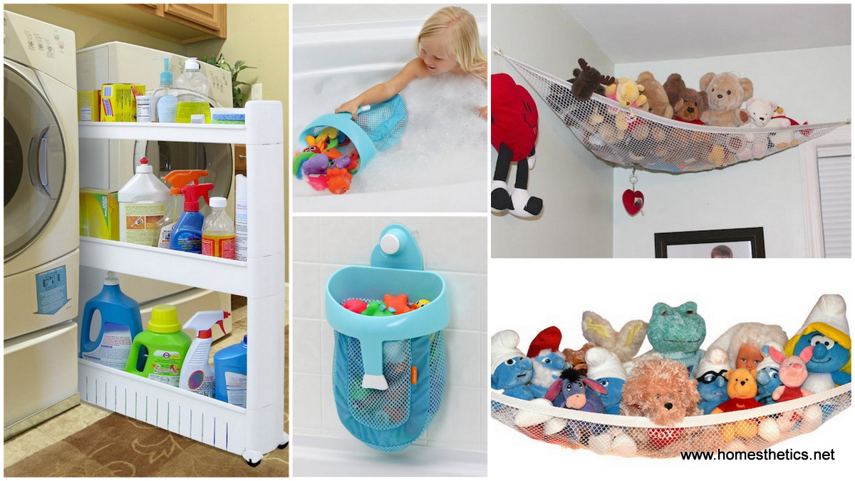 50 outrageously smart storage inventions that will for Bathroom ideas kid inventions