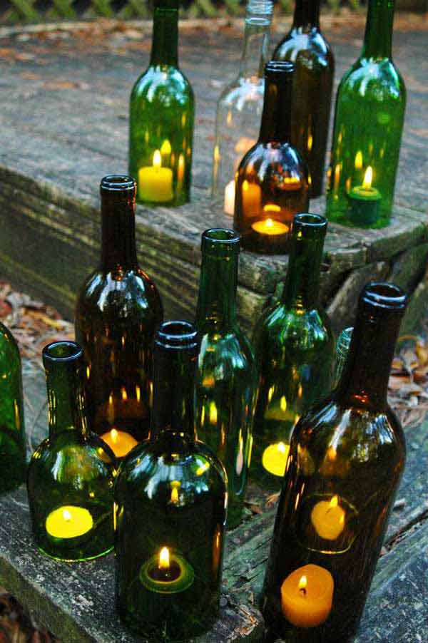 19 Sustainable DIY Wine Bottle Outdoor Decorating Ideas on Backyard Garden Decor id=82965