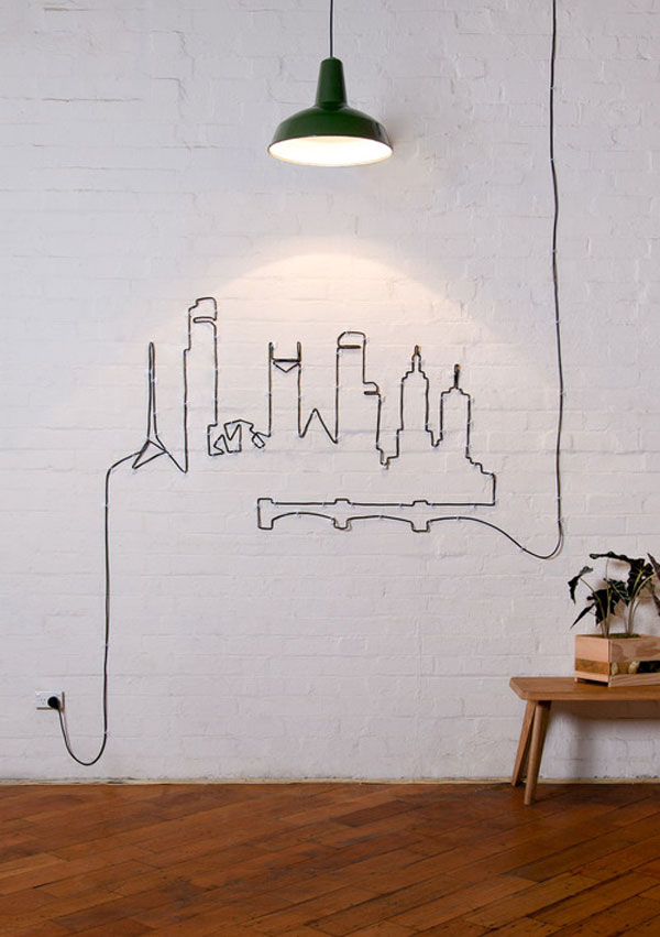 Wire Wall Art Home Decor Interesting 20 Simple And Ingenious Diy Projects That Will Hide Your Wires 2017