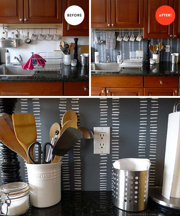 24 Cheap DIY Kitchen Backsplash Ideas and Tutorials You Should See-homesthetics (10)