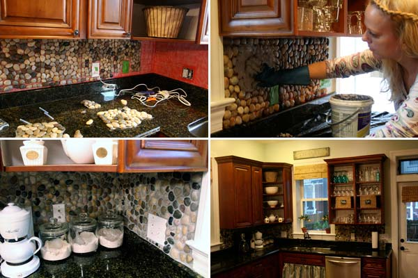 12. Cobblestone backsplash